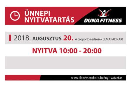 duna fitness 2018 augusztus 20