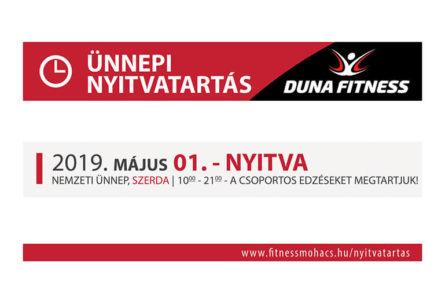 duna fitnes nyitvatartas 2019 május