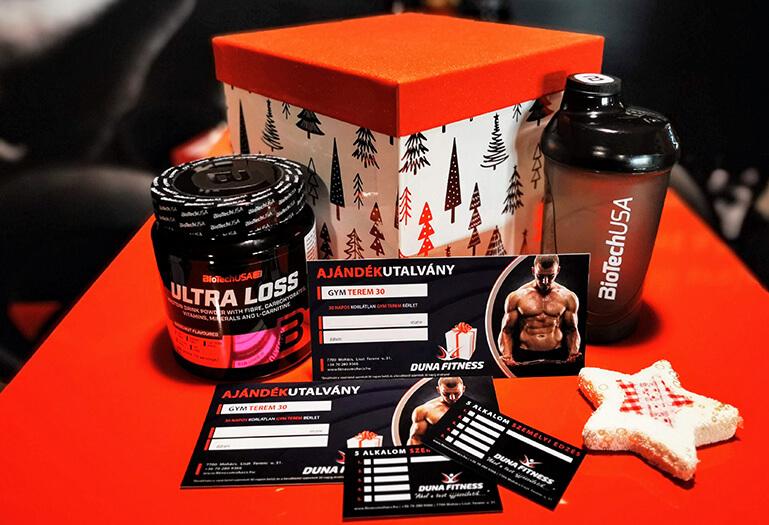 Duna Fitness karácsonyi ajándékcsomag 2019