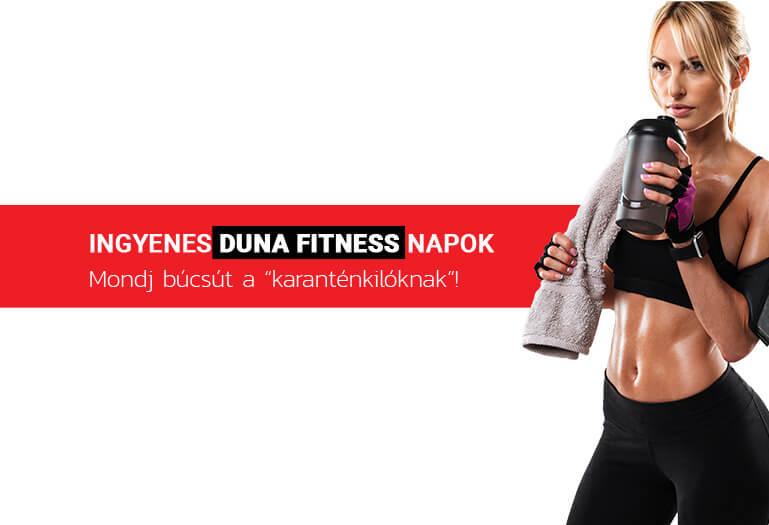 Duna Fitness ingyenes napok 2020. június
