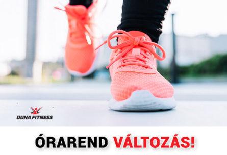 duna fitness walking órarend változás 2018 szeptember